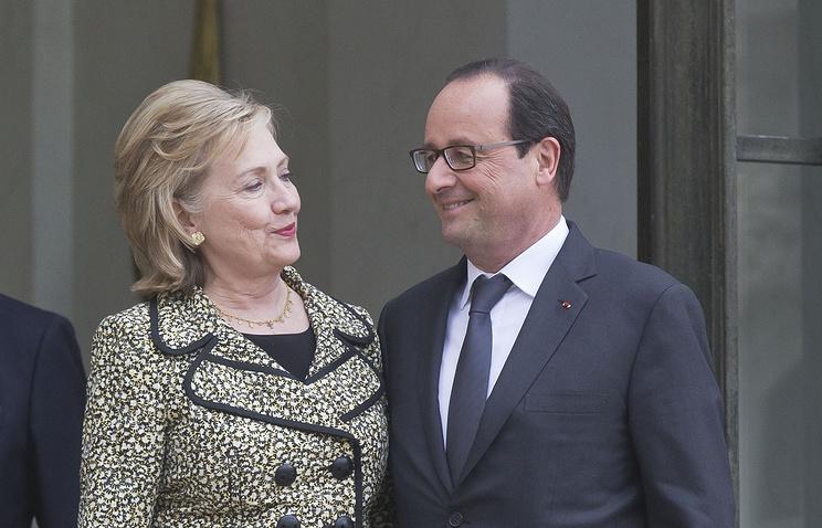 Клинтон и Олланд