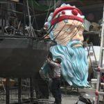 подготовка к карнавалу в ницце