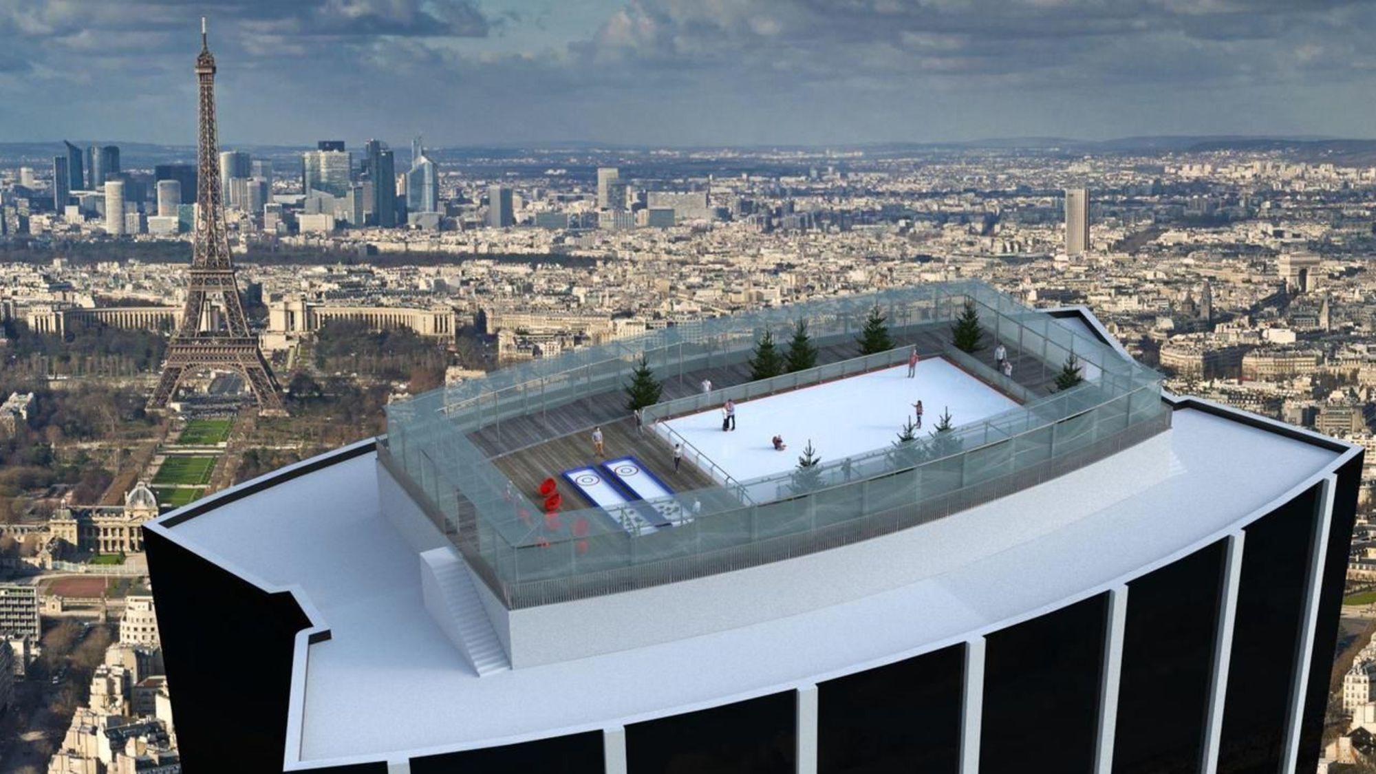 В Париже на башне Монпарнас откроют каток