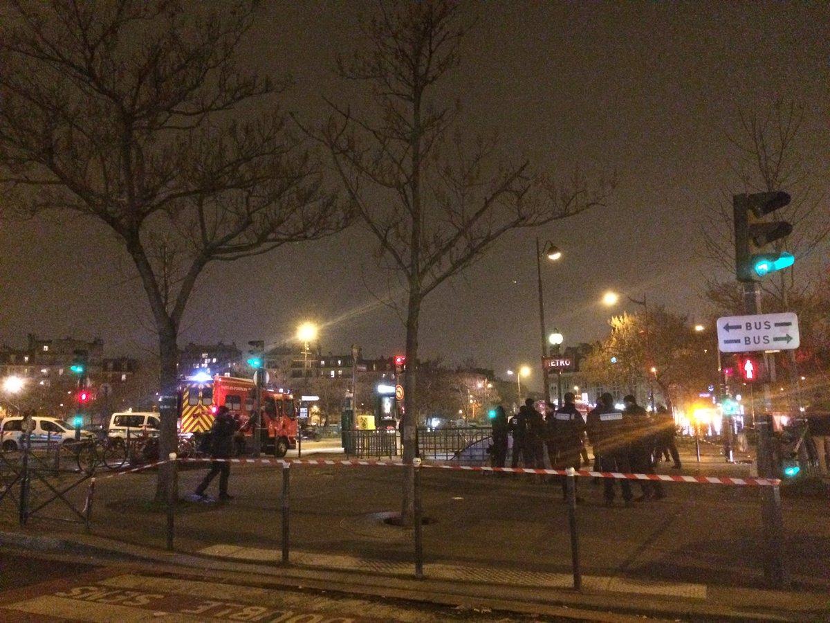 Взрыв на станции метро в Париже