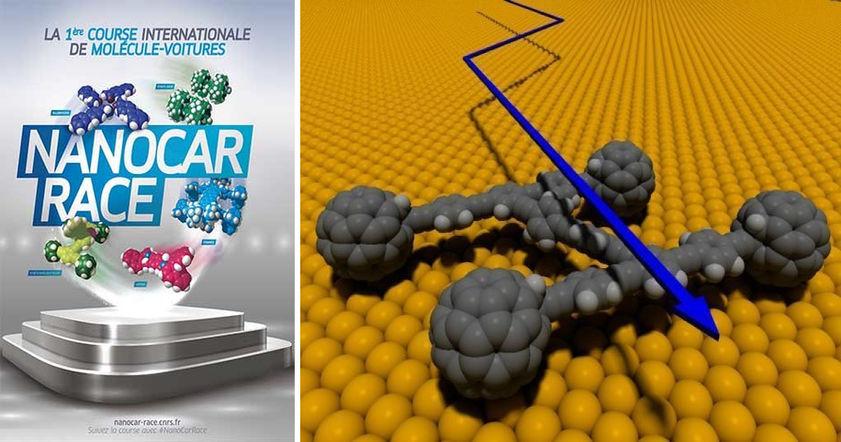 Вконце апреля состоятся первые вмире гонки молекулярных машин— Nanocar Race