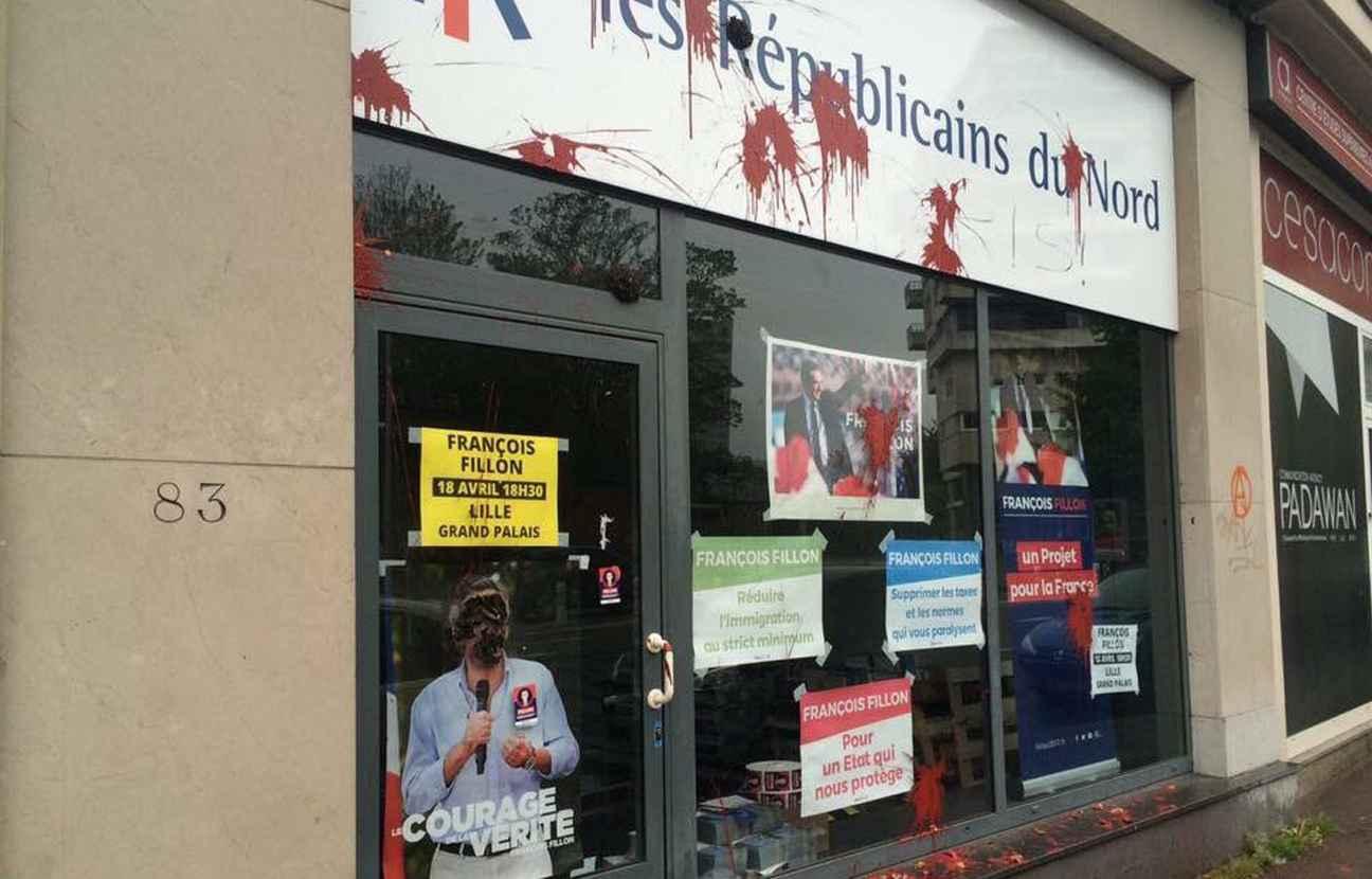 В Лиле совершено нападение на штаб Республиканцев
