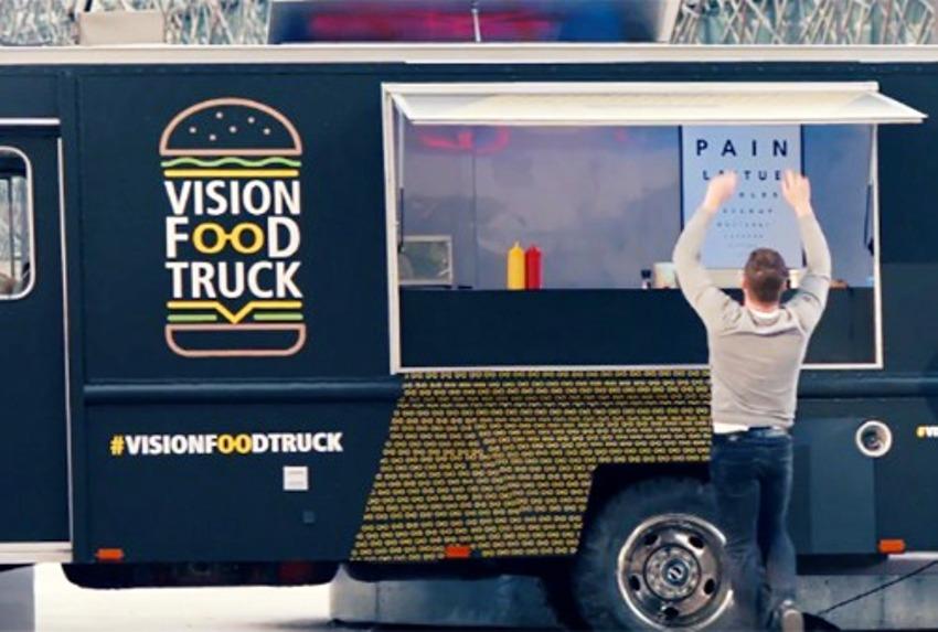 Nikon запустил по Франции грузовик с бесплатными гамбургерами