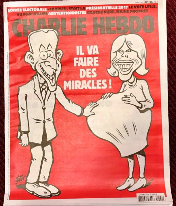 Charlie Hebdo опубликовал ещё одну карикатуру на Макрона