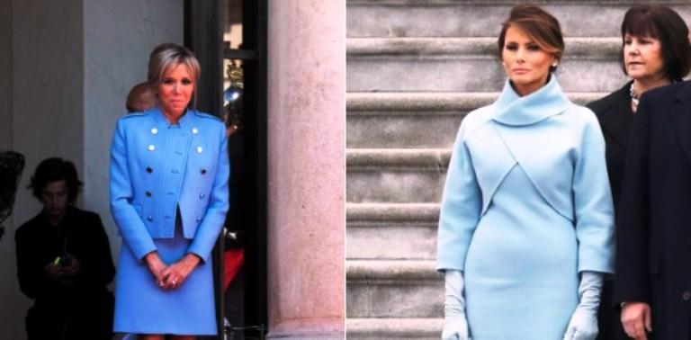 В соцсетях активно критикуют наряд первой леди Франции