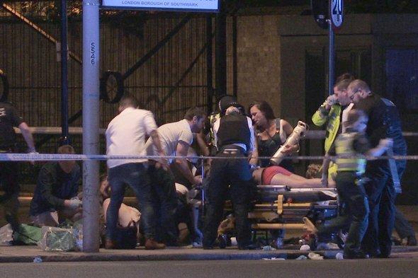 в результате теракта Лондоне