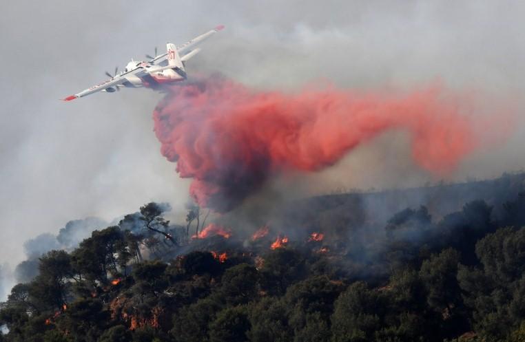 На юго-востоке Франции вспыхнул сильный лесной пожар