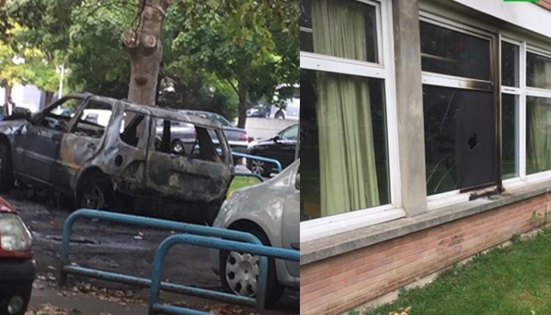 Неизвестные подожгли две школы и 6 автомобилей под Парижем