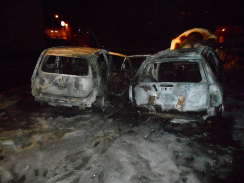 60 автомобилей пострадало, от рук вандалов за одну ночь