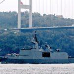 Французский военный фрегат вошёл в акваторию Черного моря