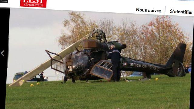 На юге Франции разбился военный вертолет