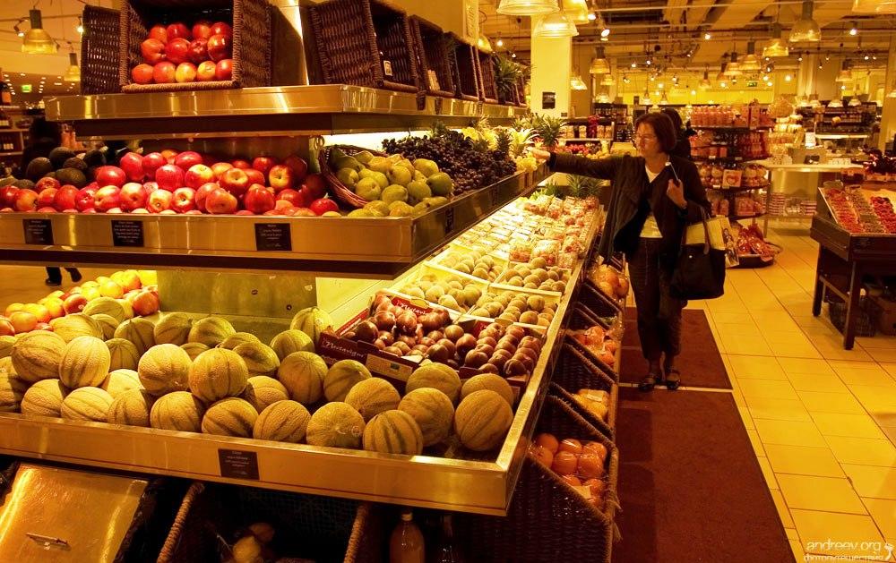 Франция поднимает цены на продукты питания