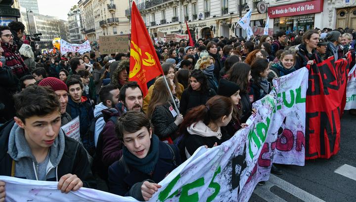 Митинги студентов против реформы образования (Видео)